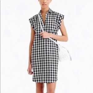 J Crew Gingham Shirt Dress Medium